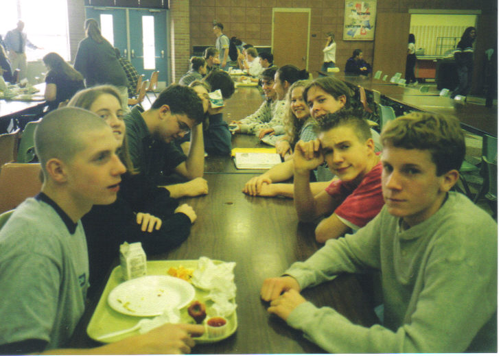High School Lunch Table At St Johns I M The Guy With Too Much Gel